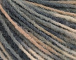 Fiber Content 100% Acrylic, Brand Ice Yarns, Grey Shades, Cream, Yarn Thickness 3 Light  DK, Light, Worsted, fnt2-55605