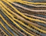Fiber Content 100% Acrylic, Yellow, Brand Ice Yarns, Grey, Camel, Yarn Thickness 3 Light  DK, Light, Worsted, fnt2-55606