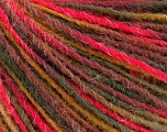 Fiber Content 100% Acrylic, Neon Pink, Maroon, Brand Ice Yarns, Green Shades, Yarn Thickness 3 Light  DK, Light, Worsted, fnt2-55608
