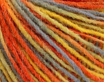 Fiber Content 100% Acrylic, Yellow, Orange, Light Blue, Brand Ice Yarns, Yarn Thickness 3 Light  DK, Light, Worsted, fnt2-55612