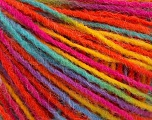 Fiber Content 100% Acrylic, Yellow, Turquoise, Orange, Brand Ice Yarns, Fuchsia, Yarn Thickness 3 Light  DK, Light, Worsted, fnt2-55613