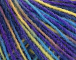Fiber Content 100% Acrylic, Yellow, Turquoise, Purple, Brand Ice Yarns, Yarn Thickness 3 Light  DK, Light, Worsted, fnt2-55615