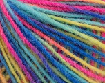 Fiber Content 100% Acrylic, Yellow, Turquoise, Pink, Brand Ice Yarns, Blue, Yarn Thickness 3 Light  DK, Light, Worsted, fnt2-55616