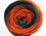 Fiber Content 90% Acrylic, 10% Polyamide, Orange, Brand Ice Yarns, Grey, Black, fnt2-55619