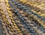 Fiber Content 82% Acrylic, 8% Polyamide, 10% Polyester, Yellow, Brand ICE, Grey, Beige, Yarn Thickness 4 Medium  Worsted, Afghan, Aran, fnt2-55635