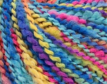 Fiber Content 82% Acrylic, 8% Polyamide, 10% Polyester, Yellow, Turquoise, Pink, Brand ICE, Blue, Yarn Thickness 4 Medium  Worsted, Afghan, Aran, fnt2-55646