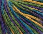 Fiber Content 50% Wool, 50% Acrylic, Purple, Brand ICE, Green Shades, Blue, Yarn Thickness 4 Medium  Worsted, Afghan, Aran, fnt2-55741