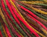 Fiber Content 50% Wool, 50% Acrylic, Brand Ice Yarns, Green Shades, Fuchsia, Brown, fnt2-55742