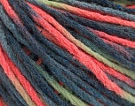 Fiber Content 50% Wool, 50% Acrylic, Neon Orange, Brand ICE, Green, Blue Shades, Yarn Thickness 4 Medium  Worsted, Afghan, Aran, fnt2-55743