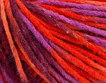 Fiber Content 50% Wool, 50% Acrylic, Orange Shades, Maroon, Lavender, Brand Ice Yarns, fnt2-55744