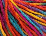 Fiber Content 50% Wool, 50% Acrylic, Rainbow, Brand Ice Yarns, fnt2-55746