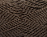 Fiber Content 70% Acrylic, 30% Wool, Brand Ice Yarns, Dark Brown, Yarn Thickness 4 Medium  Worsted, Afghan, Aran, fnt2-55752
