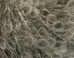 Fiber Content 95% Mohair, 5% Polyamide, Brand Ice Yarns, Grey, Beige, fnt2-55810
