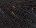 Fiber Content 50% Wool, 40% Acrylic, 10% Viscose, Brand Ice Yarns, Black, fnt2-55811