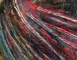 Fiber Content 70% Acrylic, 20% Cotton, 10% Wool, Red, Orange, Brand Ice Yarns, Blue, Black, fnt2-55831
