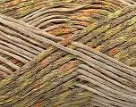 Kuitupitoisuus 65% Viskoosi, 35% Polymidi, Brand Ice Yarns, Green, Gold, Beige, fnt2-55832