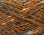 Fiber Content 40% Acrylic, 40% Wool, 20% Polyamide, Orange, Brand ICE, Grey Shades, Yarn Thickness 4 Medium  Worsted, Afghan, Aran, fnt2-55845