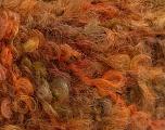 Fiberinnhold 45% Akryl, 25% Ull, 20% Mohair, 10% polyamid, Orange Shades, Brand Ice Yarns, Green Shades, fnt2-55874
