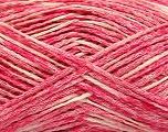 Fiber Content 48% Cotton, 32% Acrylic, 20% Polyamide, Pink, Brand ICE, Cream, fnt2-55884