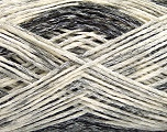 Fiber Content 60% Cotton, 24% Polyamide, 16% Acrylic, Brand ICE, Grey Shades, Cream, Yarn Thickness 2 Fine  Sport, Baby, fnt2-55885