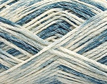 Fiber Content 60% Cotton, 24% Polyamide, 16% Acrylic, Brand Ice Yarns, Cream, Blue Shades, fnt2-55886