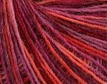 Fiber indhold 100% Uld, Purple Shades, Orange, Brand Ice Yarns, Burgundy, fnt2-55910