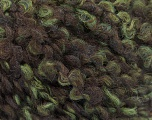 Fiber Content 55% Wool, 27% Acrylic, 18% Polyamide, Brand Ice Yarns, Green, Brown, fnt2-55941