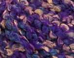 Fasergehalt 55% Wolle, 27% Acryl, 18% Polyamid, Turquoise, Purple, Brand Ice Yarns, Beige, fnt2-55945