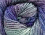 Fiber Content 100% Wool, Lilac, Brand Ice Yarns, Grey, Blue Shades, Yarn Thickness 4 Medium  Worsted, Afghan, Aran, fnt2-55989