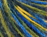 Fiber Content 50% Wool, 50% Acrylic, Yellow, Brand Ice Yarns, Green Shades, Blue Shades, Yarn Thickness 4 Medium  Worsted, Afghan, Aran, fnt2-55993