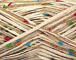 Fiber Content 8% Polyamide, 72% Cotton, 20% Viscose, Rainbow, Brand Ice Yarns, Cream, fnt2-56034