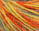 Fiber Content 90% Acrylic, 10% Polyamide, Yellow, Orange, Brand Ice Yarns, Grey, Yarn Thickness 4 Medium  Worsted, Afghan, Aran, fnt2-56040