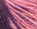 Fiber Content 90% Acrylic, 10% Polyamide, Purple, Pink, Lilac, Brand Ice Yarns, Yarn Thickness 4 Medium  Worsted, Afghan, Aran, fnt2-56042