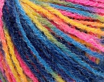 Fiber Content 90% Acrylic, 10% Polyamide, Yellow, Pink, Brand Ice Yarns, Blue Shades, Yarn Thickness 4 Medium  Worsted, Afghan, Aran, fnt2-56048
