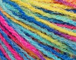 Fiber Content 90% Acrylic, 10% Polyamide, Yellow, Turquoise, Pink, Brand Ice Yarns, Blue, Yarn Thickness 4 Medium  Worsted, Afghan, Aran, fnt2-56049