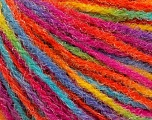 Fiber Content 90% Acrylic, 10% Polyamide, Rainbow, Brand Ice Yarns, Yarn Thickness 4 Medium  Worsted, Afghan, Aran, fnt2-56050