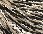 Fiber Content 45% Acrylic, 33% Wool, 22% Polyamide, White, Brand Ice Yarns, Black, Beige, fnt2-56061
