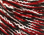 Fiber Content 45% Acrylic, 33% Wool, 22% Polyamide, White, Red, Brand ICE, Black, fnt2-56062