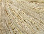 Fiber Content 5% Lurex, 35% Kid Mohair, 30% Acrylic, 30% Polyamide, Brand Ice Yarns, Cream, fnt2-56092