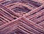 Fiber Content 60% Viscose, 40% Cotton, Pink Shades, Lilac Shades, Brand Ice Yarns, fnt2-56164