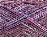 Fiber Content 60% Viscose, 40% Cotton, Pink, Maroon, Lilac Shades, Brand Ice Yarns, fnt2-56165