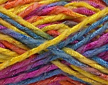 Fiber Content 6% Metallic Lurex, 50% Wool, 44% Polyamide, Yellow, Pink, Orange, Brand ICE, Blue, Yarn Thickness 5 Bulky  Chunky, Craft, Rug, fnt2-56178
