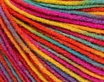 Fiber Content 50% Wool, 50% Acrylic, Rainbow, Brand ICE, Yarn Thickness 3 Light  DK, Light, Worsted, fnt2-56212
