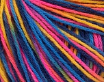 Fiber Content 50% Wool, 50% Acrylic, Yellow, Pink, Brand ICE, Blue Shades, Yarn Thickness 3 Light  DK, Light, Worsted, fnt2-56214
