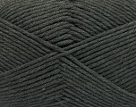 Fiber Content 50% SuperFine Nylon, 50% SuperFine Acrylic, Brand ICE, Dark Grey, Yarn Thickness 4 Medium  Worsted, Afghan, Aran, fnt2-56280