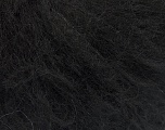 Fiber Content 27% Wool, 27% Mohair, 26% Polyamide, 20% Acrylic, Brand ICE, Black, fnt2-56309