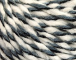 Fiber Content 50% Acrylic, 50% Wool, White, Brand ICE, Grey, Black, fnt2-56315