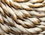 Fiber Content 50% Acrylic, 50% Wool, White, Brand ICE, Brown Shades, fnt2-56316