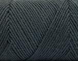 Fiber Content 50% Wool, 50% Acrylic, Brand ICE, Dark Grey, Yarn Thickness 3 Light  DK, Light, Worsted, fnt2-56426