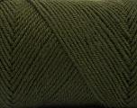 Fiber Content 50% Wool, 50% Acrylic, Brand ICE, Dark Khaki, Yarn Thickness 3 Light  DK, Light, Worsted, fnt2-56430